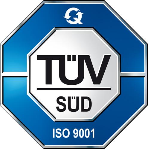 TÜV Süd ISO Zertifiziert 9001